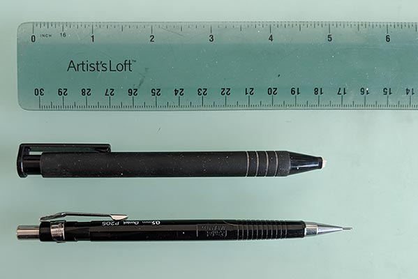 Photo of drawing tools.