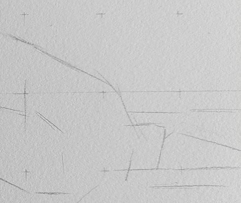 A simple line drawing of a section of the main picture.