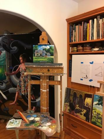 A photo of Steve Ohlrich's studio