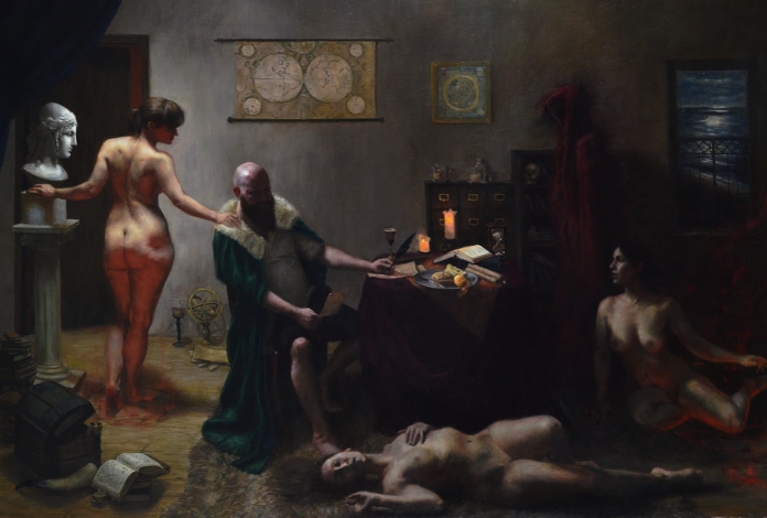 'Faust' by Brian Skol. Oil painting on linen.