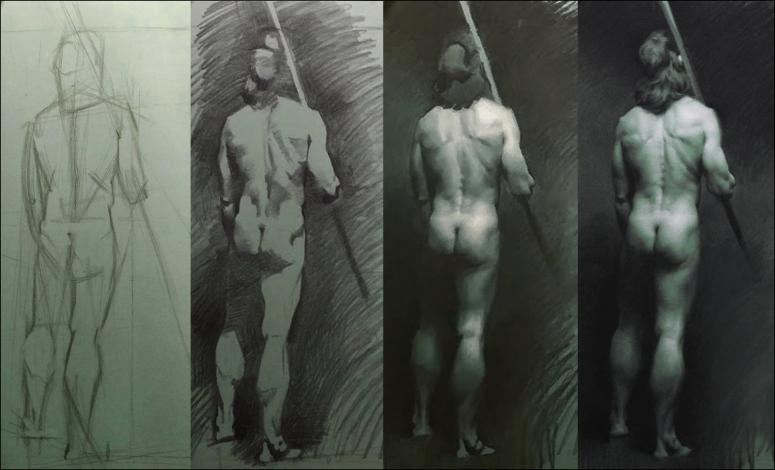 Charcoal drawings by Grigor Eftimov