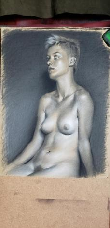 A pastel drawing by Grigor Eftimov