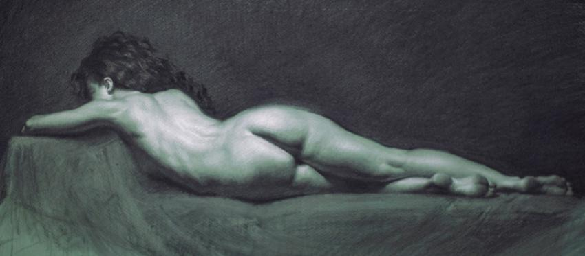Charcoal drawing by Grigor Eftimov
